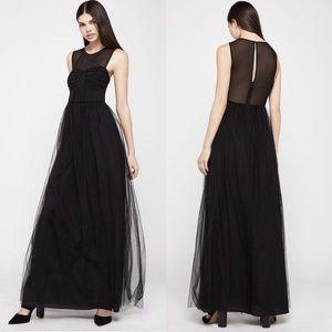 BCBGeneration Chiffon & Tulle A-Line Long Dress